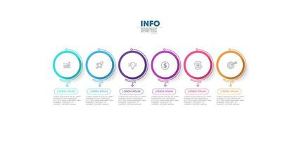 infografica affari tondo colorato