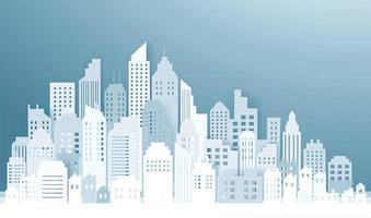 skyline della città moderna vettore