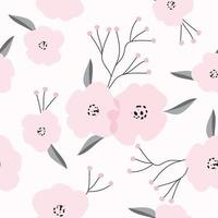 motivo floreale rosa vintage vettore