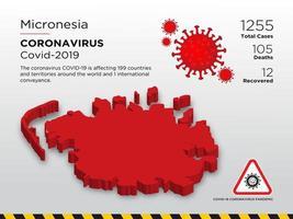 micronesia interessata mappa del paese di coronavirus