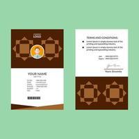carta d'identità con stella geometrica marrone vettore