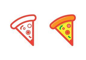 Un vettore di fetta di pizza