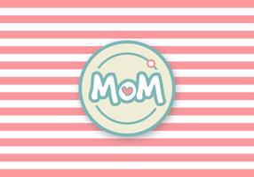 Carina festa della mamma vettoriale