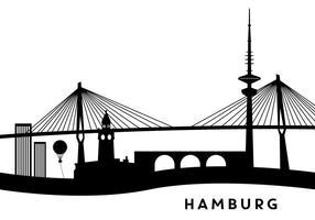 Edifici di Amburgo vettore