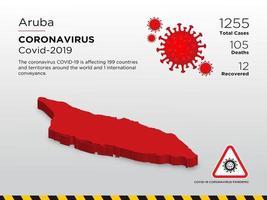 aruba la mappa del paese interessato della diffusione del coronavirus
