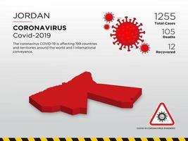 la Giordania ha interessato la mappa del paese della diffusione del coronavirus