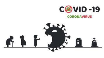 covid-19 ferma il poster di diffusione vettore