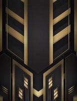 fondo oro e nero con forme astratte vettore