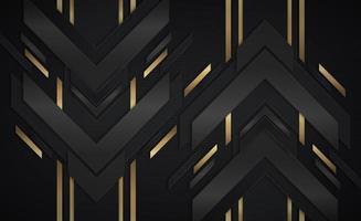 forme di freccia metallica nera e oro che vanno su e giù