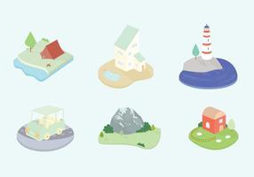 Icone vettoriali di paesaggio