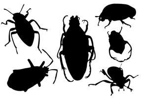 Bug Silhouette vettoriali gratis