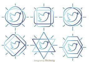 Vettori di contorno di uccelli di Twitter