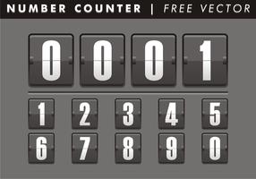 Numero contatore vettoriale gratuito