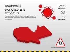 mappa del paese colpita del guatemala della diffusione del coronavirus