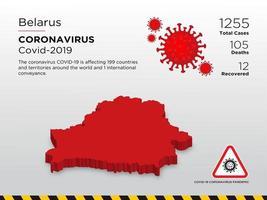 la Bielorussia ha interessato la mappa del paese della diffusione del coronavirus