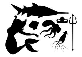 Sirena e amici vettore