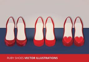 Vector scarpe color rubino