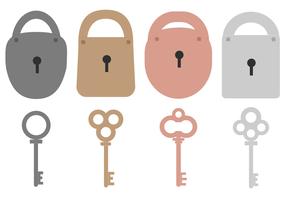 Chiave e lucchetto vettoriale