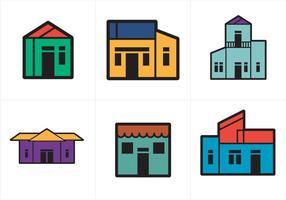 Vettore gratuito di case di città