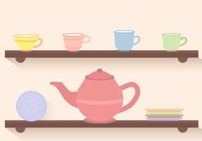 Tè Set vettoriale gratuito