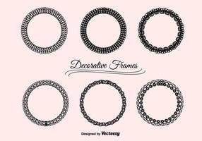 Set di cornici decorative vettoriale