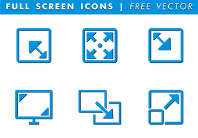 Icone vettoriali gratis a schermo intero