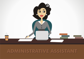 Vettore di assistente amministrativo