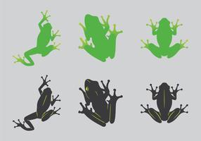 Illustrazione verde libera di vettore della rana di albero