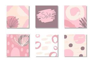 insieme astratto della copertura di tratti viola e rosa vettore