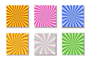 set di sole colorato scoppio vettore