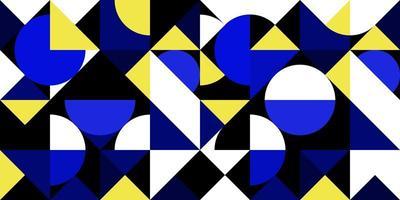 astratto geometrico blu e giallo vettore