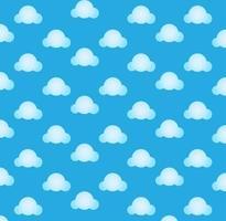 nuvola blu modello senza giunture vettore