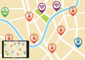 Wifi Mappa vettoriale