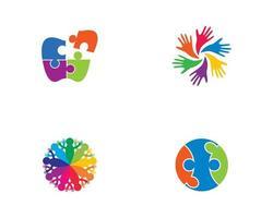 connessione al set di logo della community