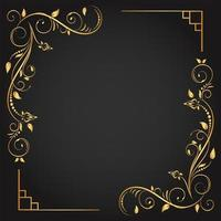 cornice quadrata fiorita ad angolo ornamentale in oro