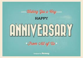 Retro illustrazione tipografica felice di anniversario