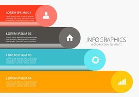 Vettore di progettazione infografica colorato