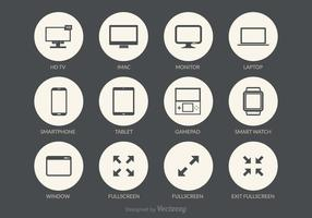 Schermi icone vettoriali