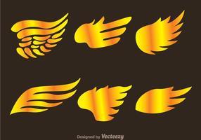 Vettori di logo ala oro falco