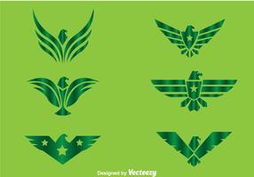 Vettori di logo verde Hawk
