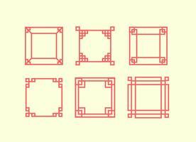 Cornice quadrata giapponese vettore