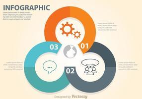 Diagramma del cerchio del diagramma di affari vettore