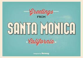 Retro illustrazione di saluto di Santa Monica di stile