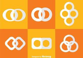 icone bianche del ciclo infinito