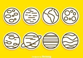 Icone di contorno del pianeta