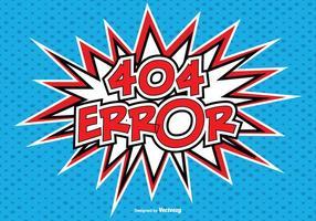 Illustrazione di errore di stile comico 404