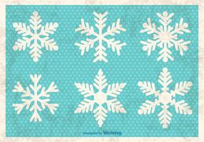 Fiocchi di neve decorativi vettore