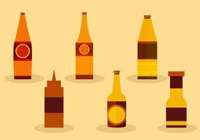 Bottiglie di salsa vettore