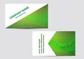 Biglietto da visita verde