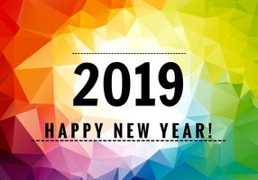 Colorful felice anno nuovo 2019